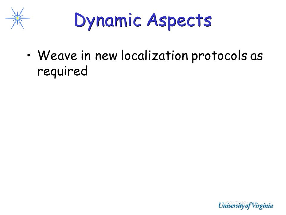 Dynamic Aspects Weave in new localization protocols as required