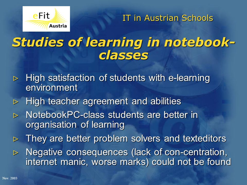 IT in Austrian Schools Nov.