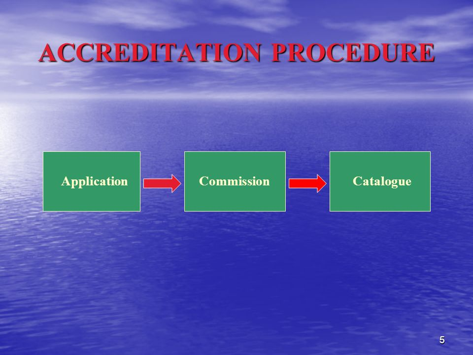 5 ACCREDITATION PROCEDURE ApplicationCommissionCatalogue