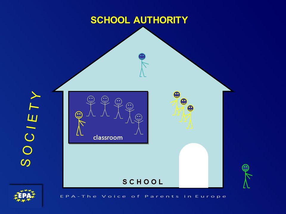 S C H O O L classroom SCHOOL AUTHORITY S O C I E T Y