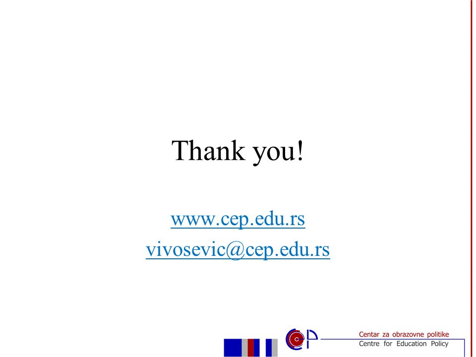 Thank you! www.cep.edu.rs vivosevic@cep.edu.rs