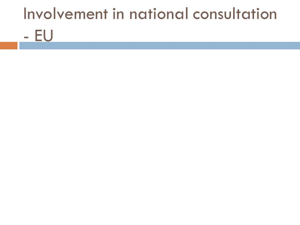 Involvement in national consultation - EU