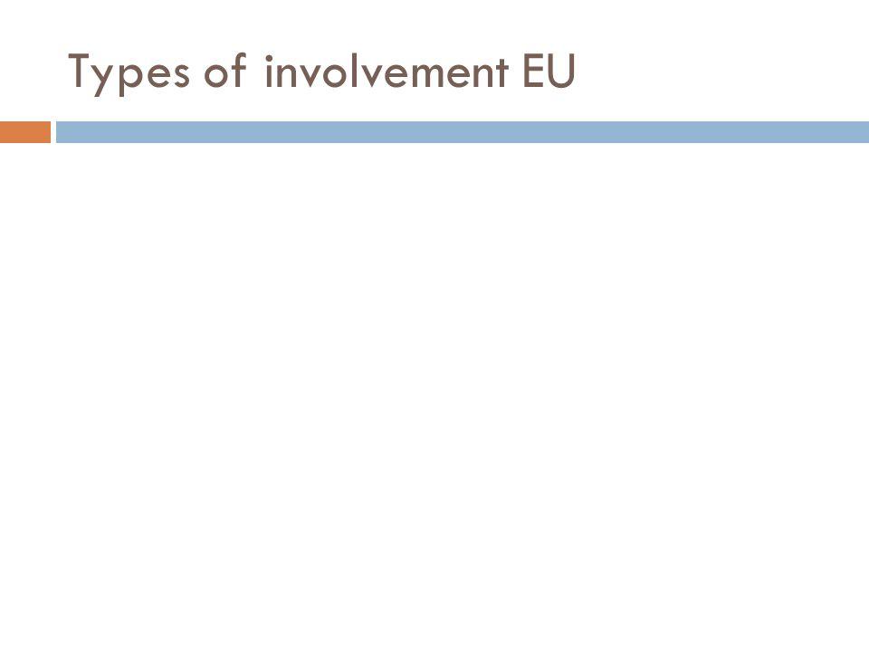 Types of involvement EU