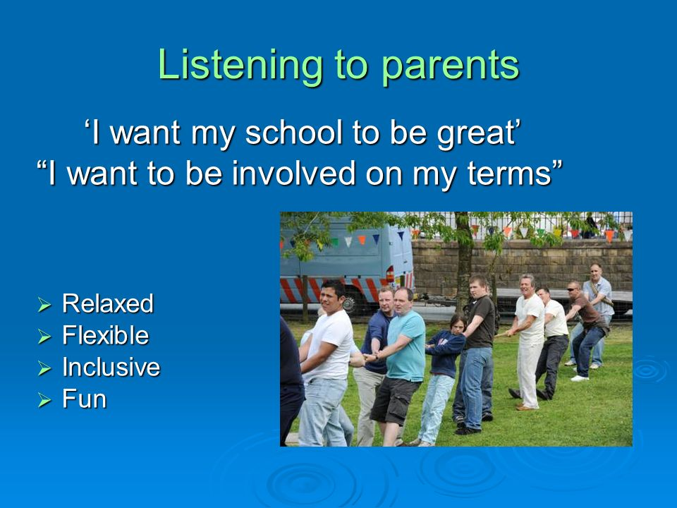 And more progress… Growing commitment to parental involvement at all levels Growing commitment to parental involvement at all levels Growth in whole school community approaches to involving parents successfully Growth in whole school community approaches to involving parents successfully Growth in social capital Growth in social capital Parents feeling empowered….