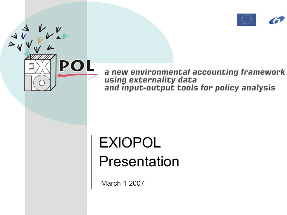 EXIOPOL Presentation March 1 2007