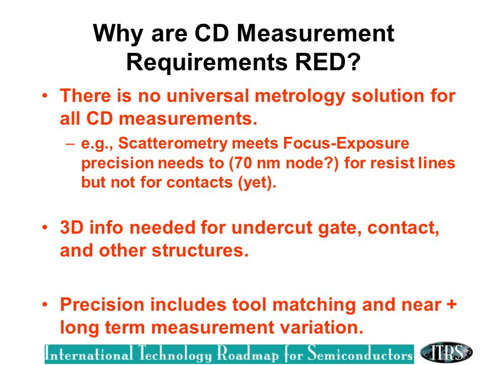 Why are CD Measurement Requirements RED.