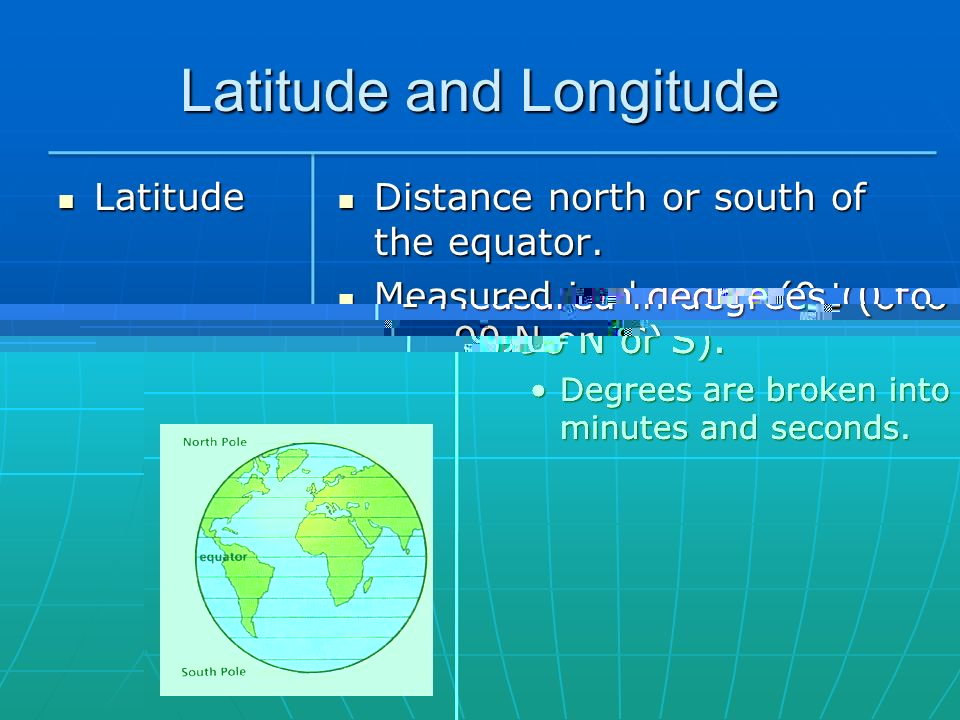 Latitude and Longitude Prime Meridian Prime Meridian Imaginary line that runs from the north pole to the south pole through the Greenwich Observatory.