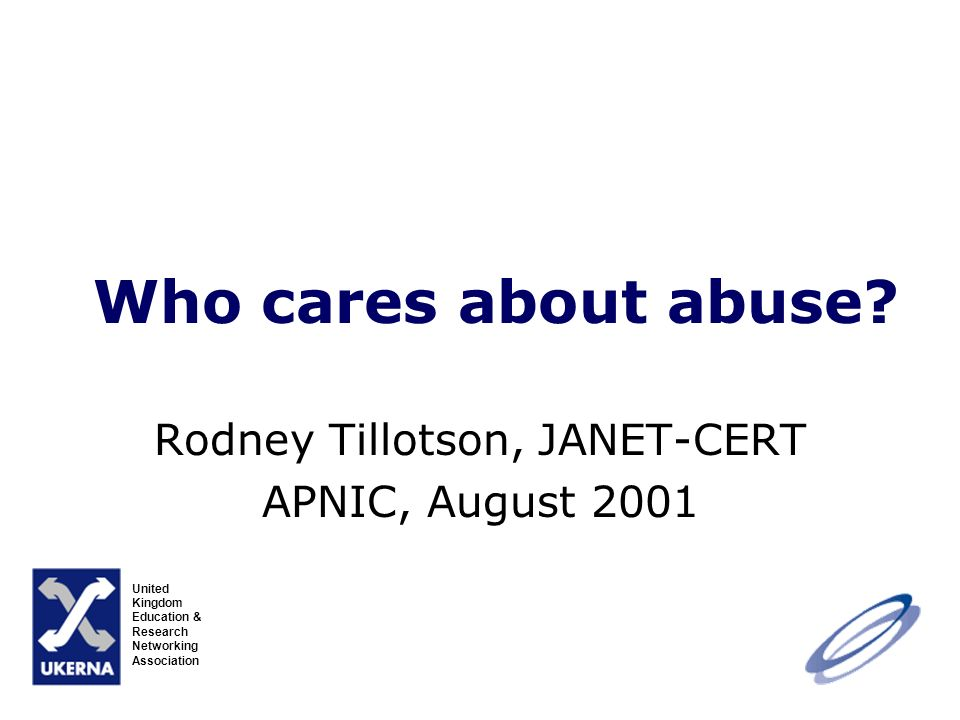 Who cares about abuse.