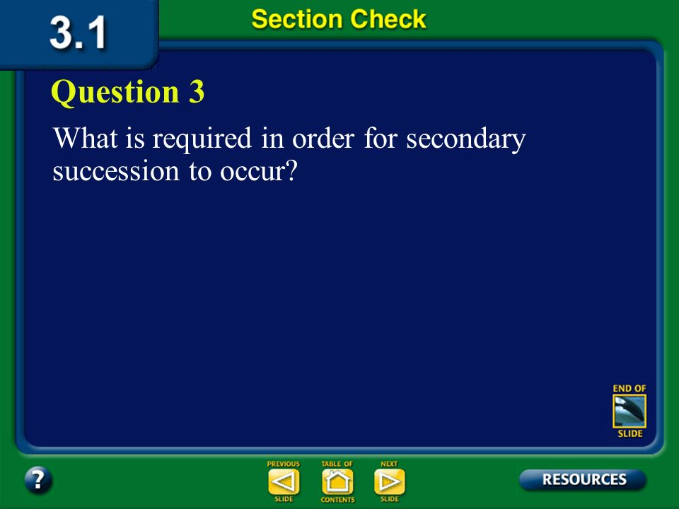 Section 1 Check The answer is A. Primary succession is the colonization of barren land by pioneer species, such as moss or lichens.
