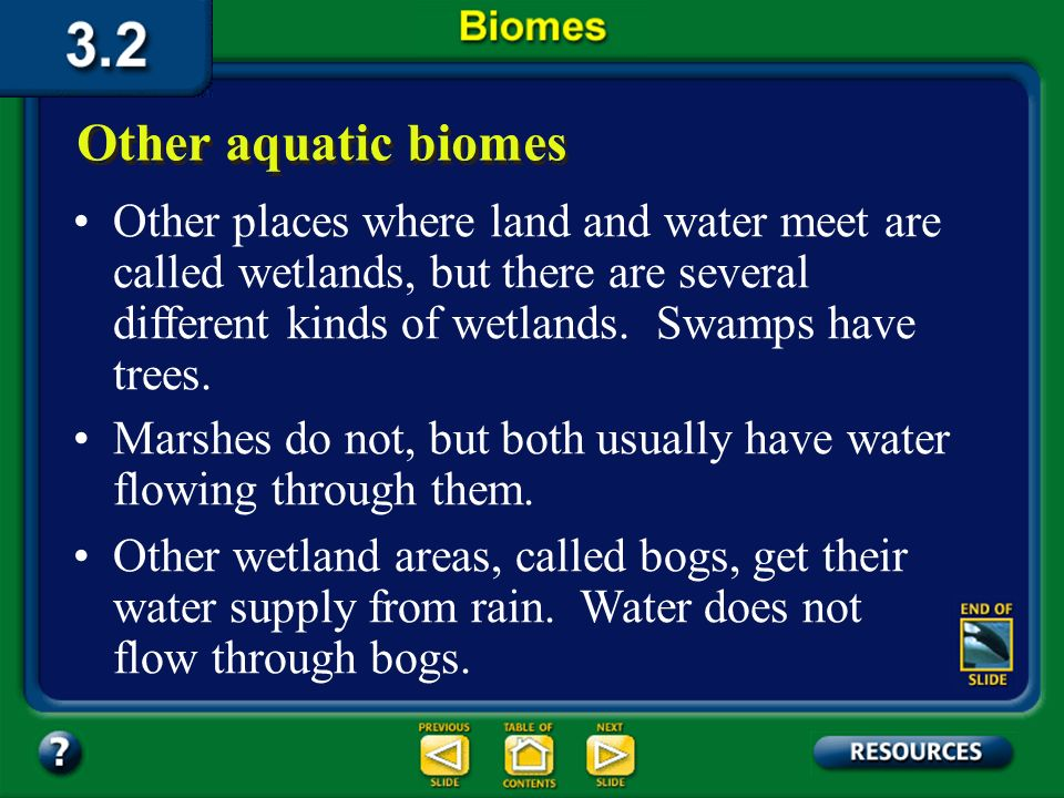 Section 3.2 Summary – pages 70-83 Freshwater biomes Another abiotic factor that limits life in deep lakes is light. Greatest Warmer layer Colder layer