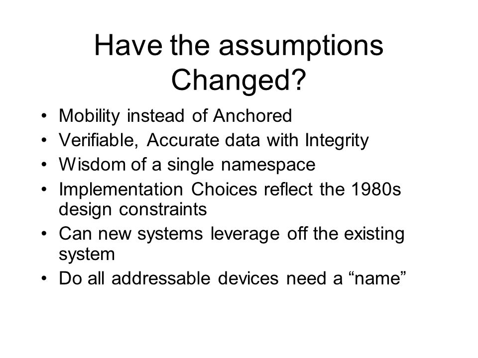More thoughts for the future Synthetic devices may need names Other bindings may be useful, e.g.