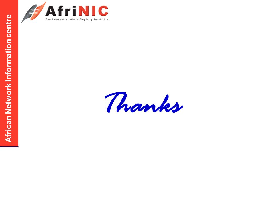 African Network Information centre Thanks