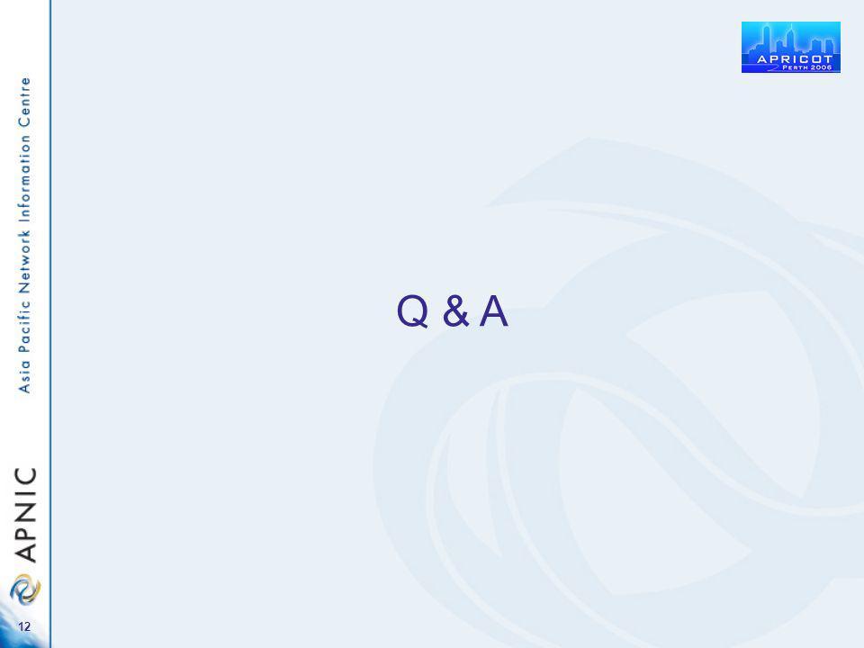 12 Q & A