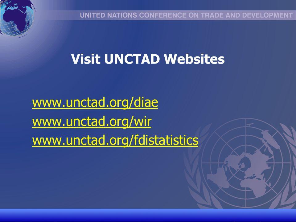 UNCTAD/CD-TFT 18 Visit UNCTAD Websites www.unctad.org/diae www.unctad.org/wir www.unctad.org/fdistatistics