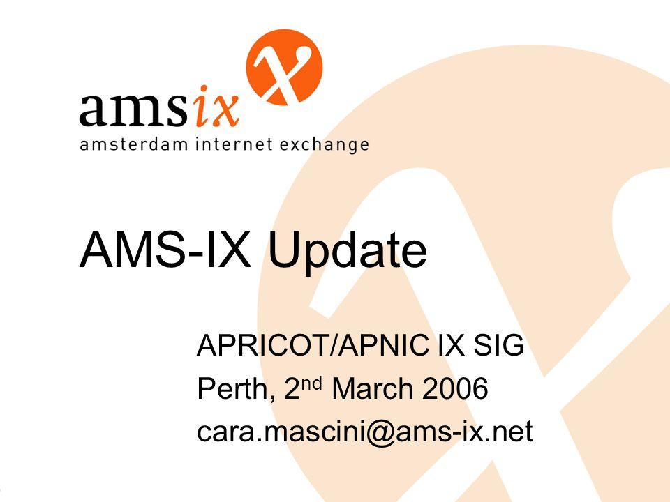 AMS-IX Update APRICOT/APNIC IX SIG Perth, 2 nd March 2006 cara.mascini@ams-ix.net