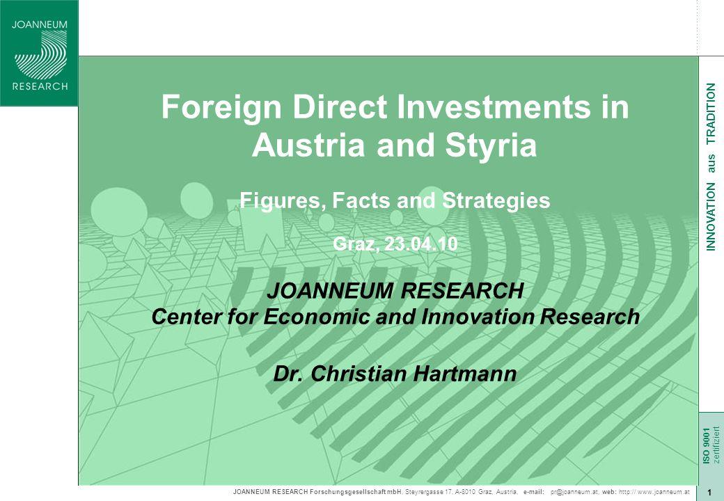JOANNEUM RESEARCH Forschungsgesellschaft mbH, Steyrergasse 17, A-8010 Graz, Austria, e-mail: pr@joanneum.at, web: http:// www.joanneum.at ISO 9001 zer