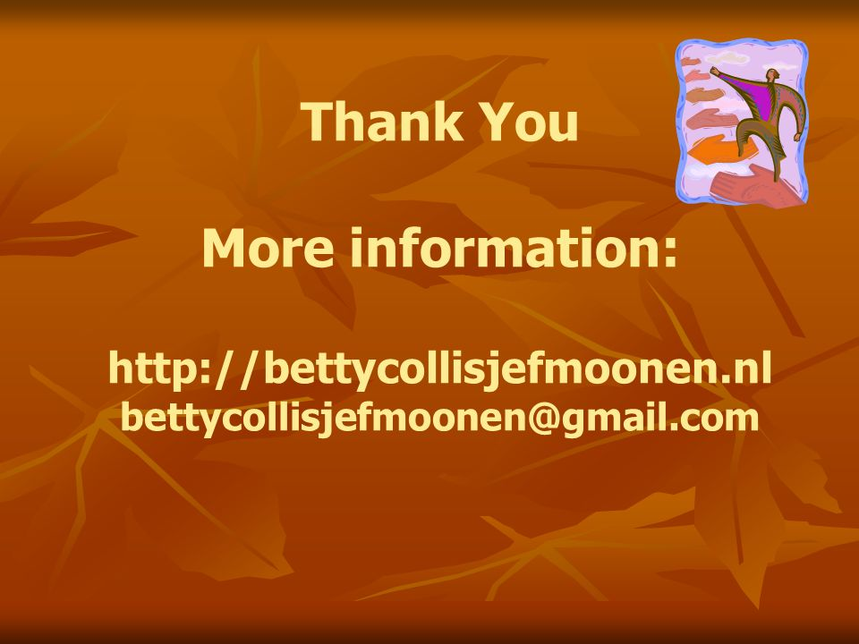Thank You More information: