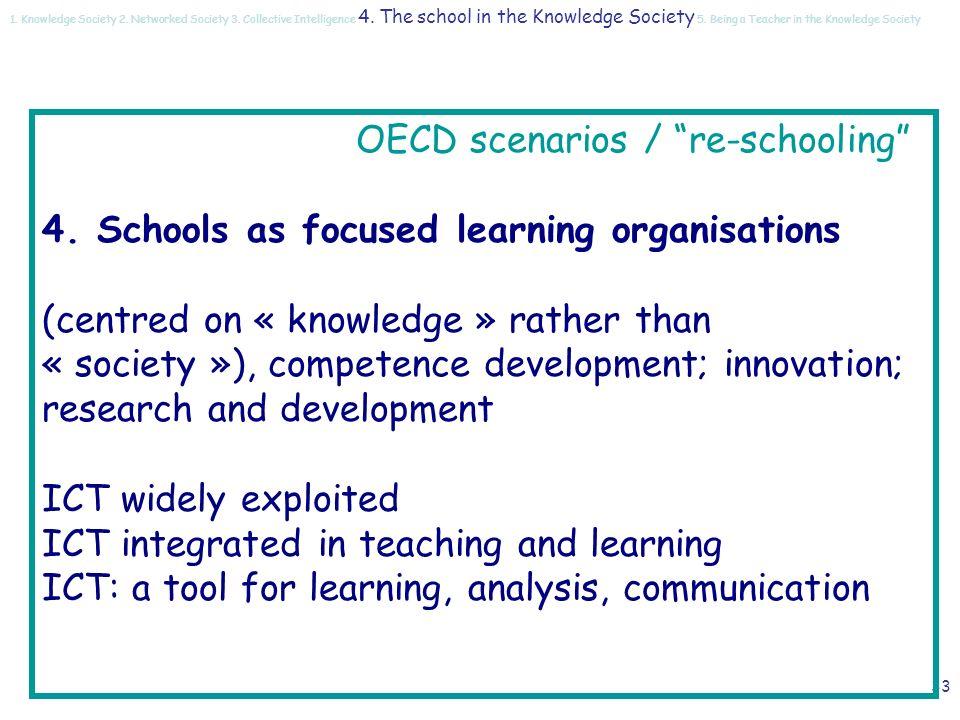 32 OECD scenarios / re-schooling 3.