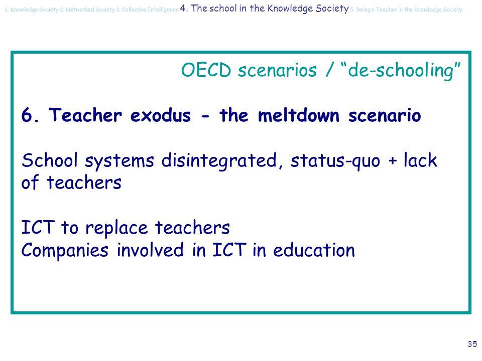 34 OECD scenarios / de-schooling 5.