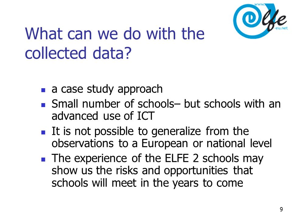 9 What can we do with the collected data.