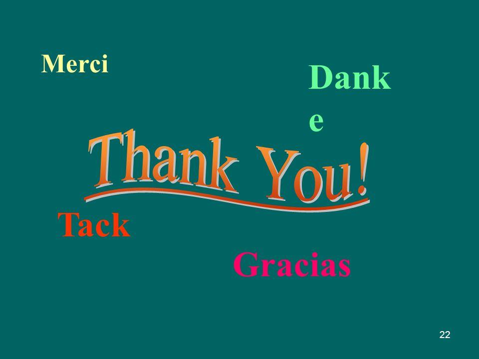 22 Merci Dank e Gracias Tack