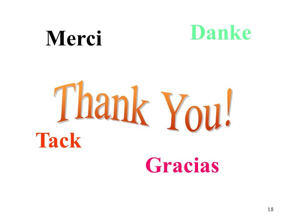 18 Merci Danke Gracias Tack