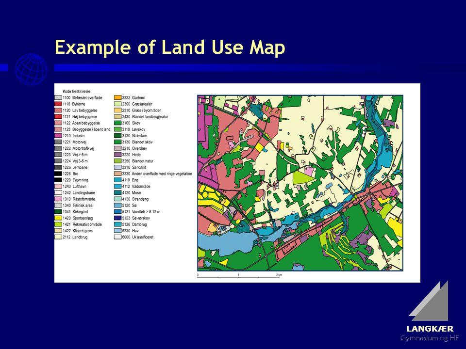 LANGKÆR Gymnasium og HF Example of Land Use Map