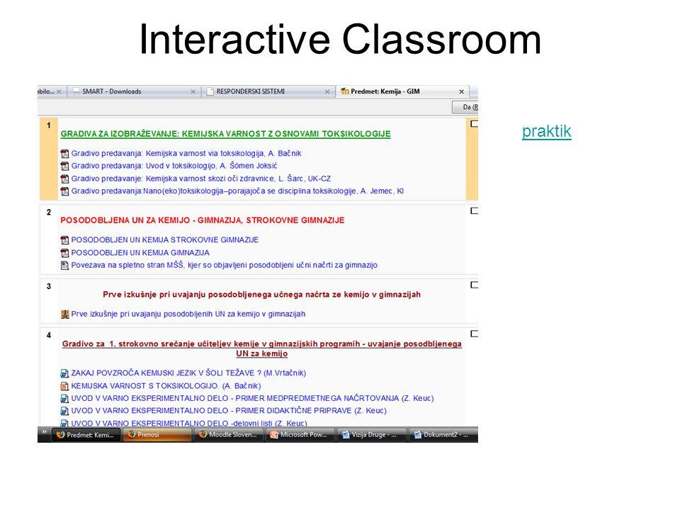 Interactive Classroom praktik