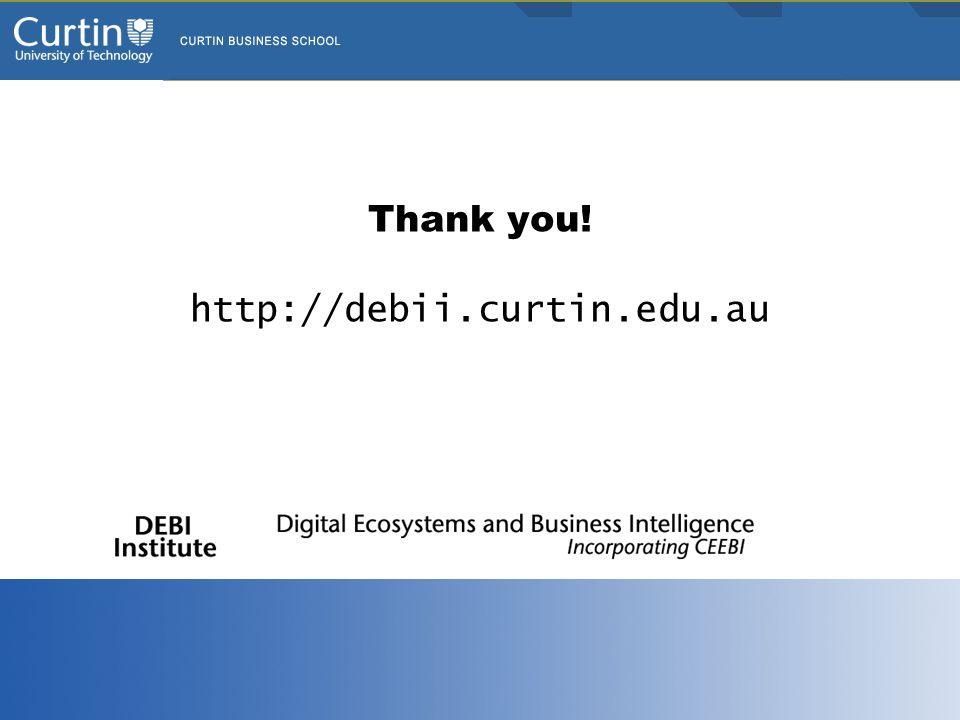 Thank you! http://debii.curtin.edu.au