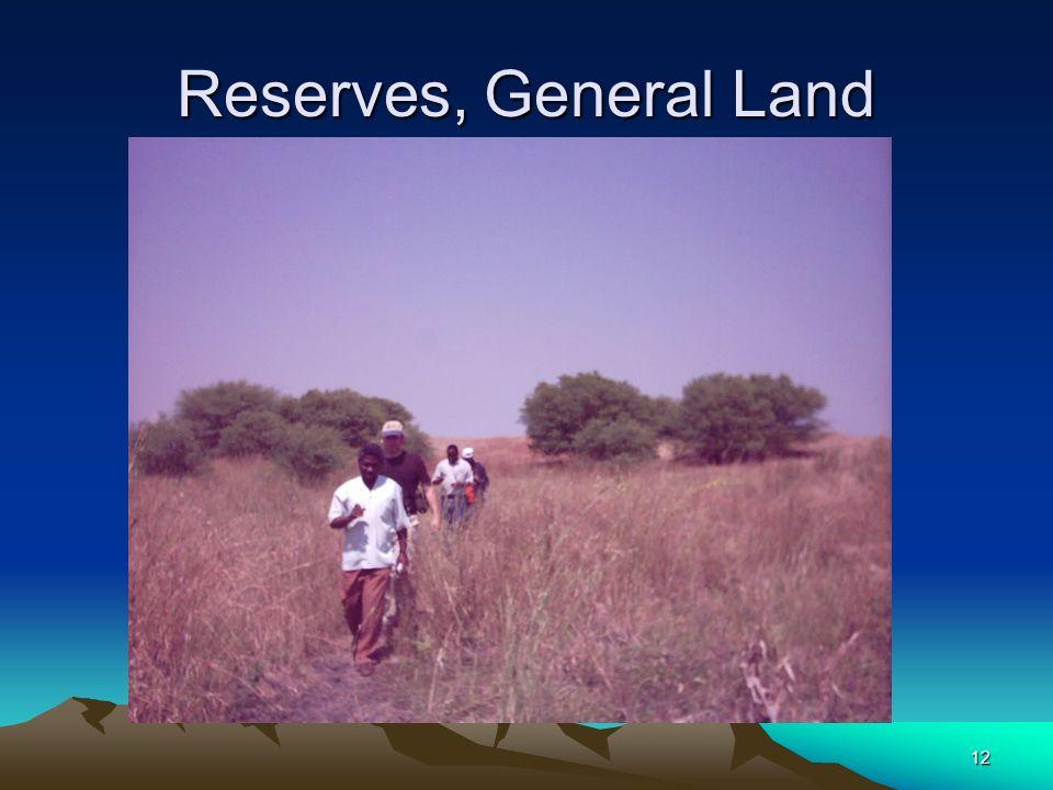 12 Reserves, General Land