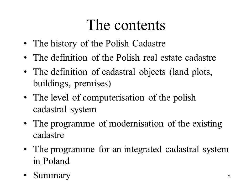 3 The history of the Polish Cadastre The first technical book published in Polish.