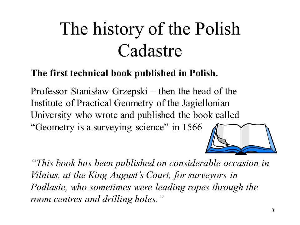 4 The history of the Polish Cadastre Cadastre in Poland at the end of the 19 th century