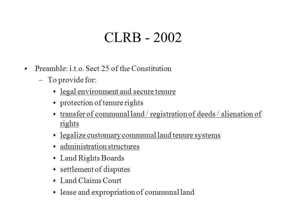 CLRB - 2002 Preamble: i.t.o.