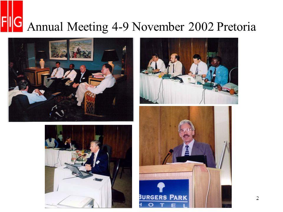 2 Annual Meeting 4-9 November 2002 Pretoria