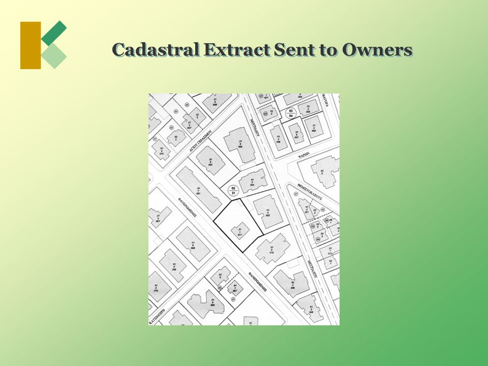 Cadastral Extract Sent to Owners