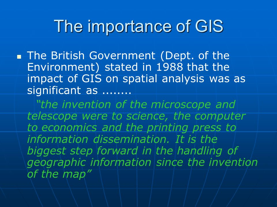 Key GIS Concepts Marble (1987) defined four subsystems: Marble (1987) defined four subsystems: 1.