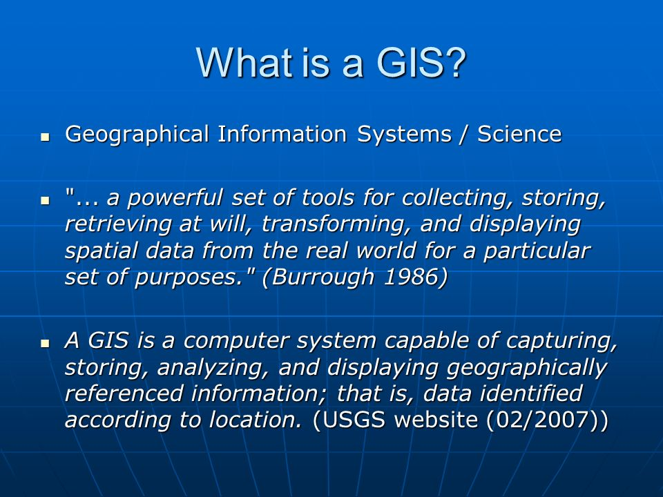 Programme WEEKS 4-7 Consider Raster and Vector graphics Discuss the use of databases in GIS Examine 3D applications