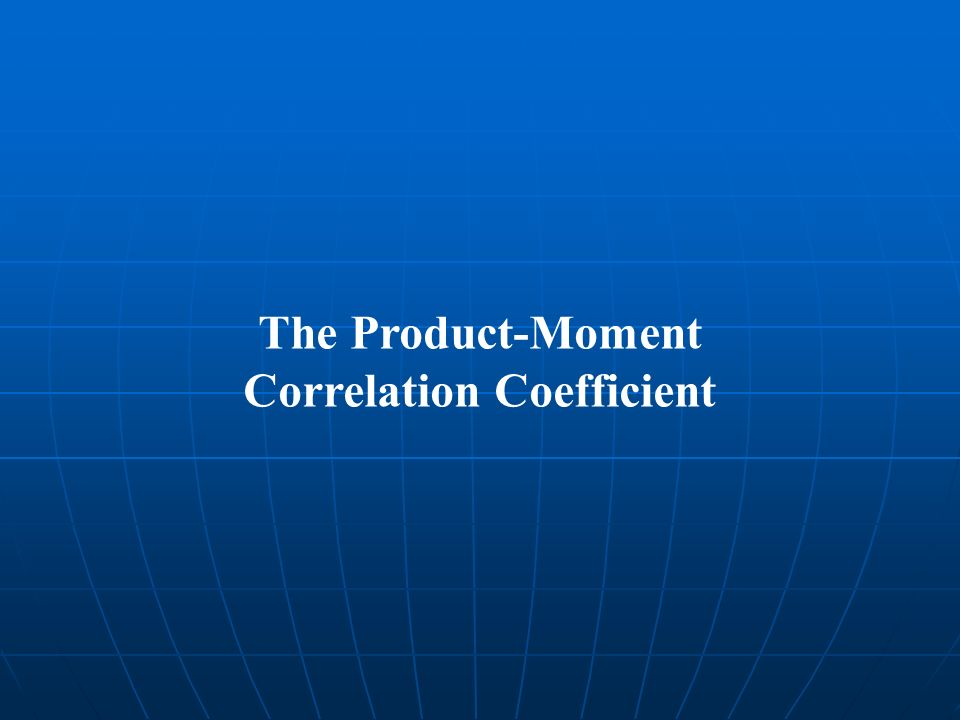 The Product-Moment Correlation Coefficient