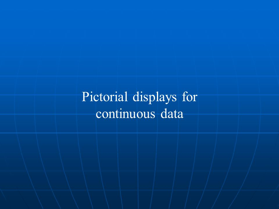 Pictorial displays for continuous data