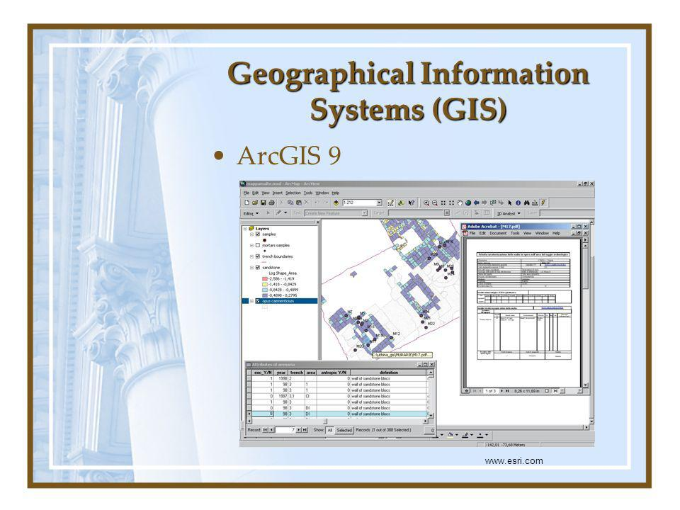 Geographical Information Systems (GIS) ArcGIS 9