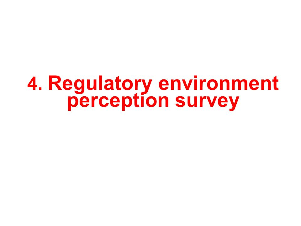 4. Regulatory environment perception survey