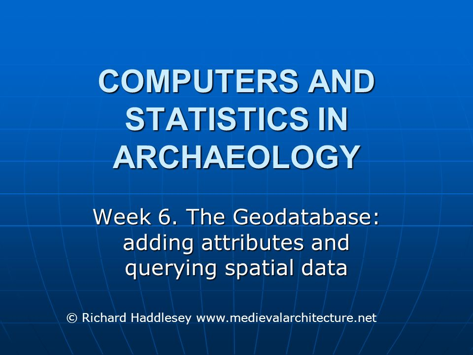 The Geodatabase A database is a collection of information that is structured and recorded in a consistent manner A database is a collection of information that is structured and recorded in a consistent manner Conolly and Lake 2006, 51