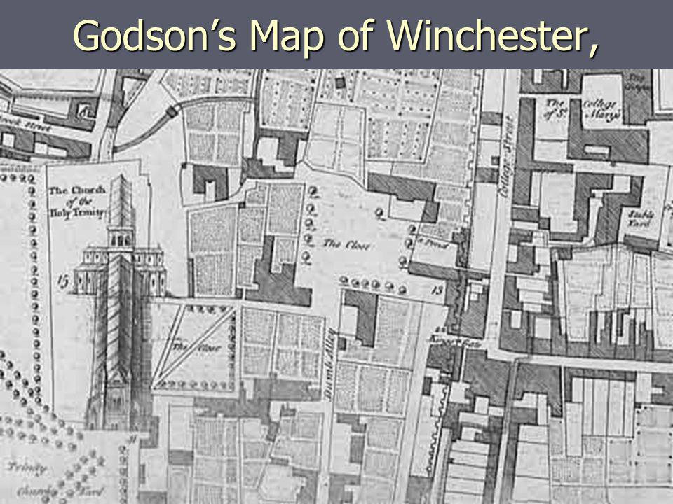 Godsons Map of Winchester, 1750