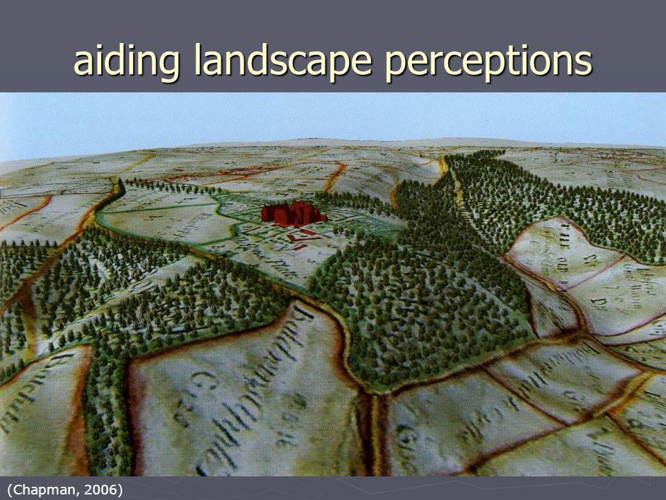 (Chapman, 2006) aiding landscape perceptions