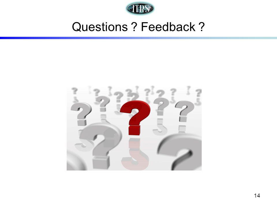 Questions Feedback 14