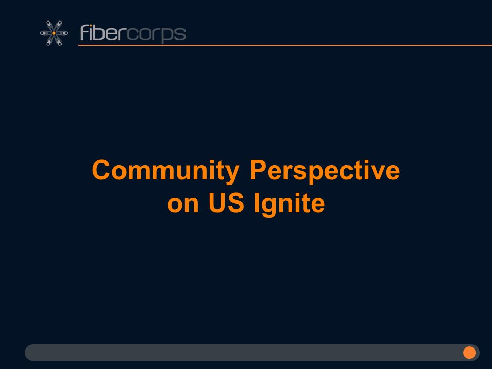 Community Perspective on US Ignite