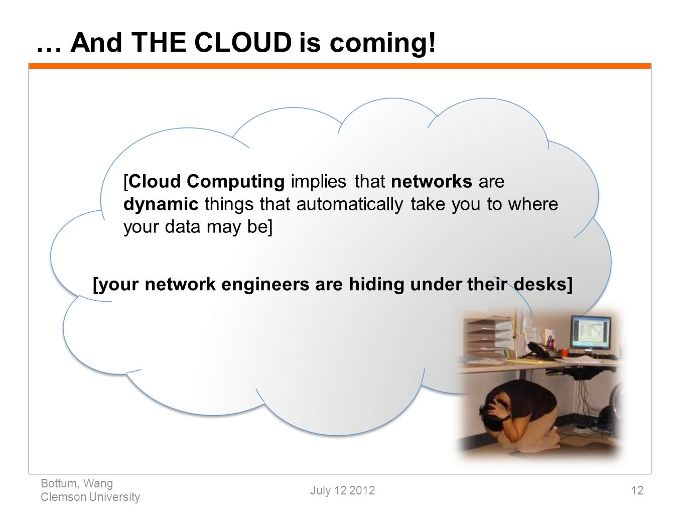 … And THE CLOUD is coming.