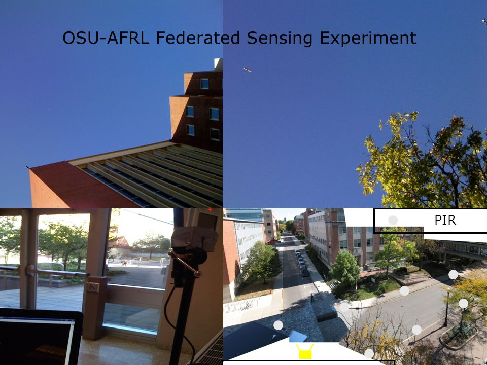 12 PIR OSU-AFRL Federated Sensing Experiment Hyperspectral cameras