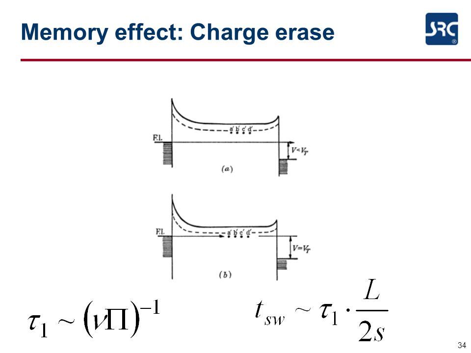 34 Memory effect: Charge erase