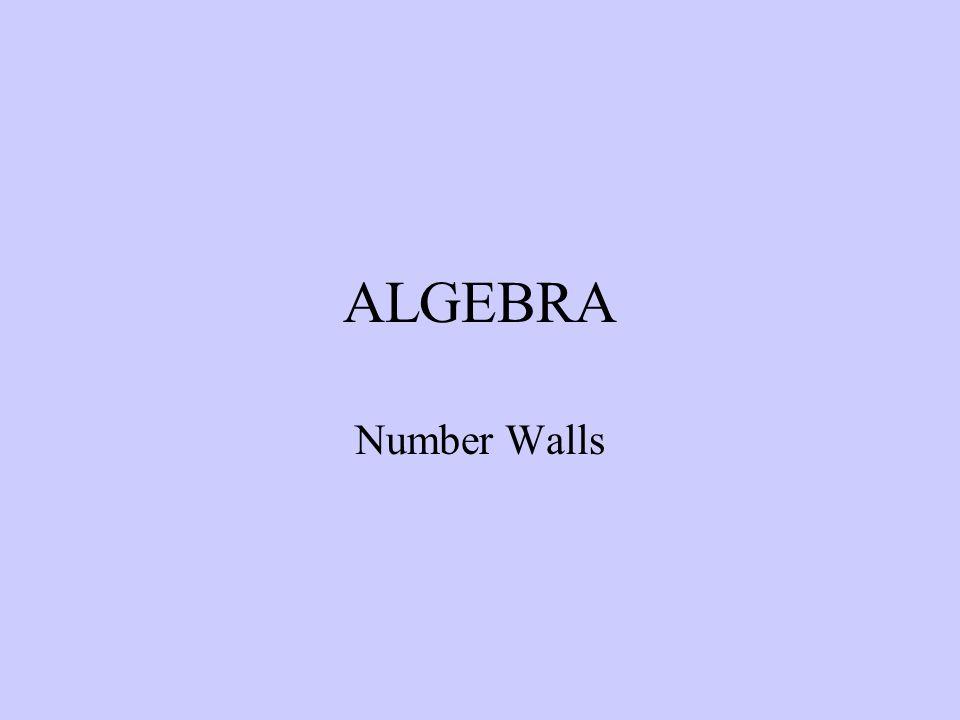 ALGEBRA Number Walls